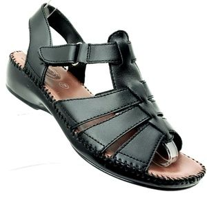 Dr Scholls Black Fisherman Style Sandals 7 M